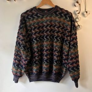 NW North Winds Men's Vintage Mulicolored Sweater L